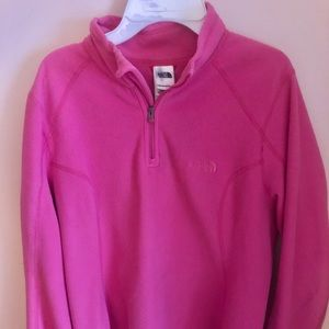 The North Face Pink Fleece Sweater - Size L